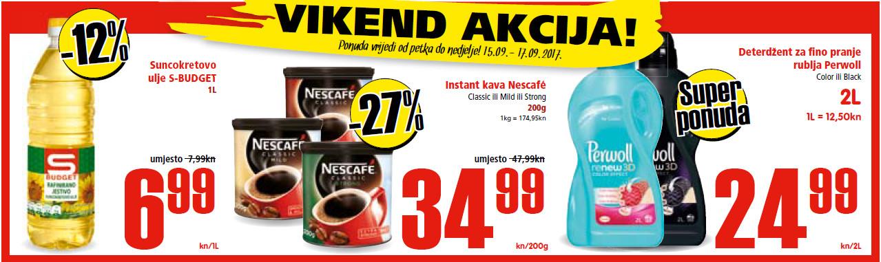 Ne propustite nova vikend sniženja od 15.- 17.09.2017. u Spar i Interspar supermarketima.