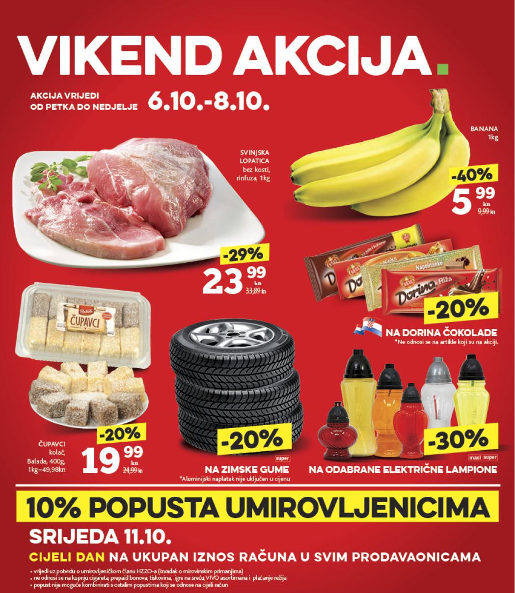 Isplati se! I ovog vikenda od 06.- 08.10.2017. iskoristite nove popuste i kupujte povoljnije u Konzumovim prodajnim centrima.