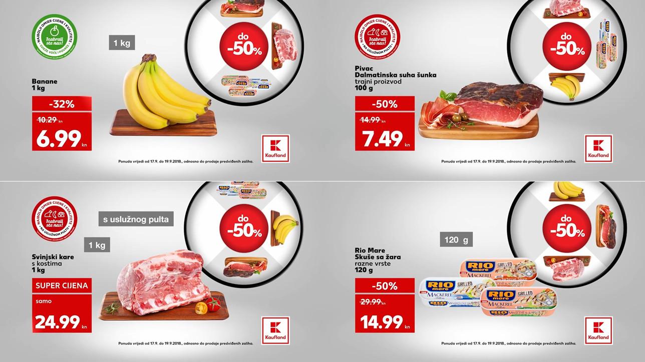 Kauflandovo kolo sreće vam donosi nova sniženja za početak tjedna od 17.- 19.09.2018. u Kaufland supermarketima.